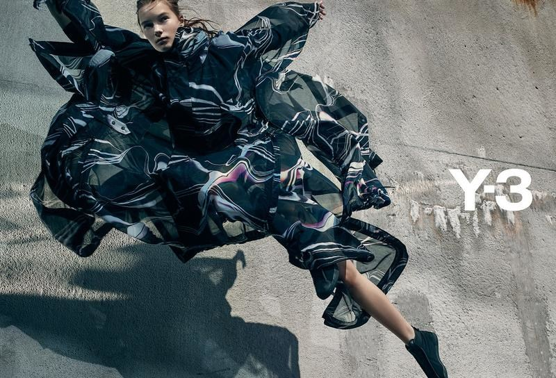ec54501ccc79 Gregory Harris photographs the Spring Summer 2016 Y-3 campaign with make-up  by Karan Franjola